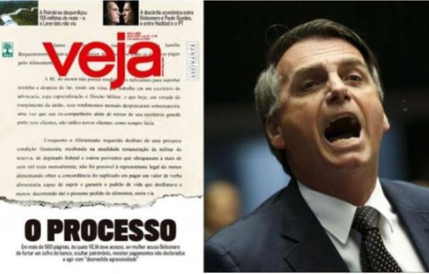 Resultado de imagem para BOLSONARO E A EX. ESPOSA E A VEJA