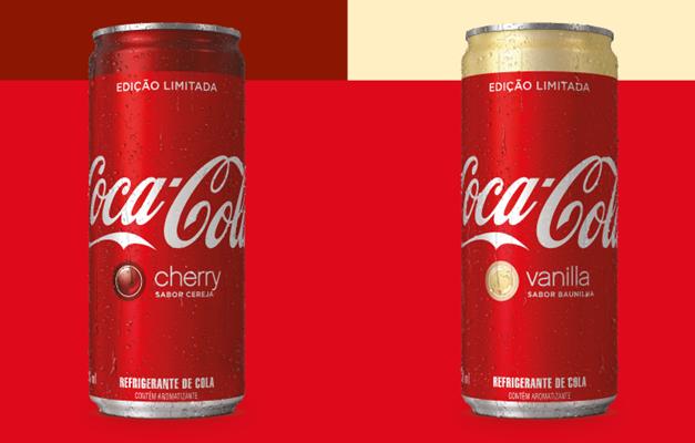 d505f54853 Coca-Cola traz ao Brasil sabores cereja e baunilha em edição limitada