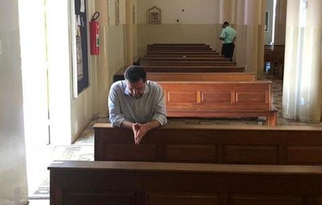 Marconi vai à Catedral Metropolitana de Goiânia após deixar sede da PF